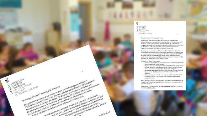 Imagen de la carta que ha enviado el Govern a los directores de centros escolares.