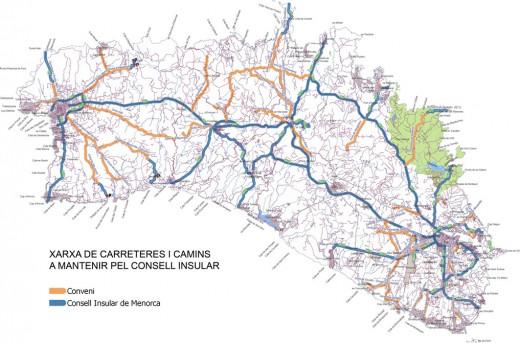 Entre las carreteras que pertenecen al Consell y las que tienen titularidad municipal suman un total de 335,4 kilómetros.