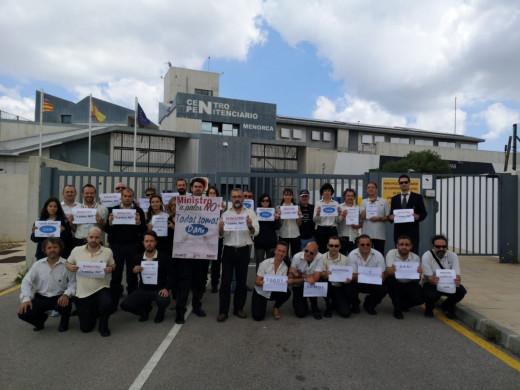 Funcionarios de prisiones de Menorca.