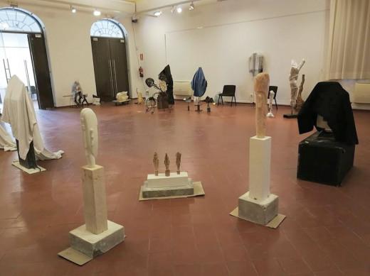 Imagen de las obras presentadas al concurso de esculturas Ciutat de Maó.