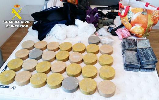 """Imagen de la droga incautada por la EUROPOL dentro de la operación """"Lagosta"""". Fotos: Ministerio del Interior"""