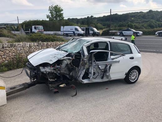 (Ampliación) Los heridos del accidente llegan al Mateu Orfila