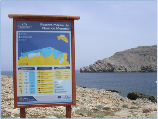 Reserva marina del norte de Menorca.