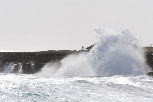 Temporal en la costa sur de Menorca (Foto: Tolo Mercadal)