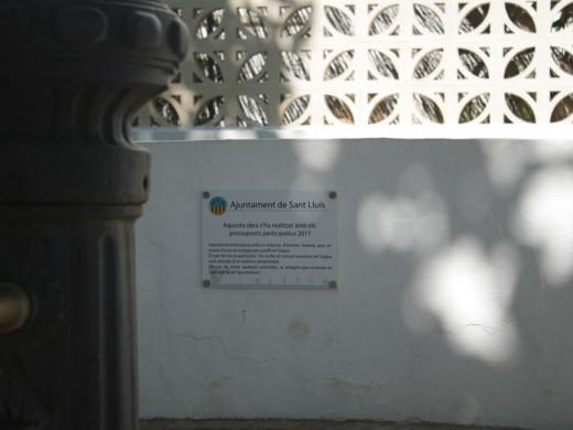 (Fotos) Sant Lluís tiene la primera fuente pública de osmosis de Balears