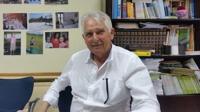 El presidente de la asociación, Jaume Coll, en su despacho de ASPANOB en Palma.