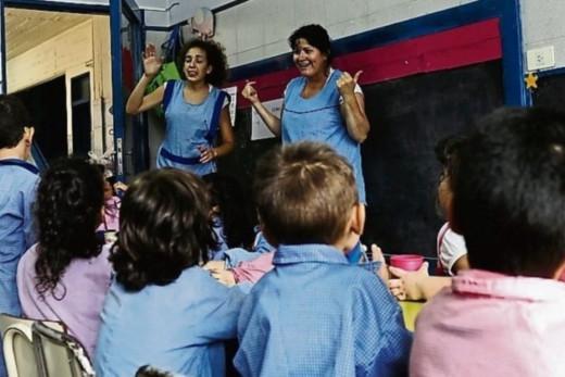 Alumnos en una escuela.
