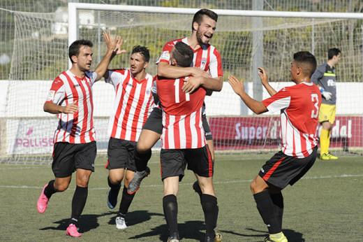Celebración de un gol del Mercadal (Foto: Tolo Mercadal)