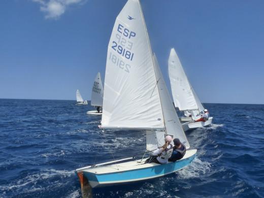 Imagen de la regata del domingo.