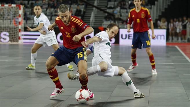 Miguelín, con la selección española.