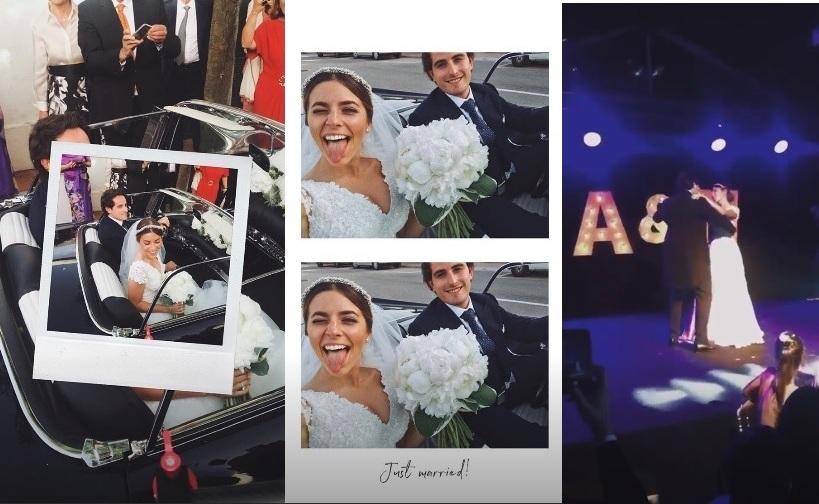 Imágenes de la boda que la novia colgó en las redes sociales.