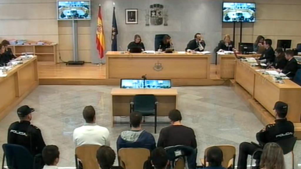 Imagen de archivo del juicio por los hechos ocurridos en la localidad navarra de Alsasua.