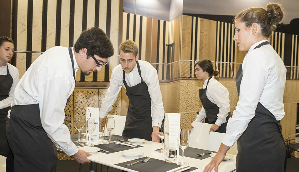 Camareros en un restaurante