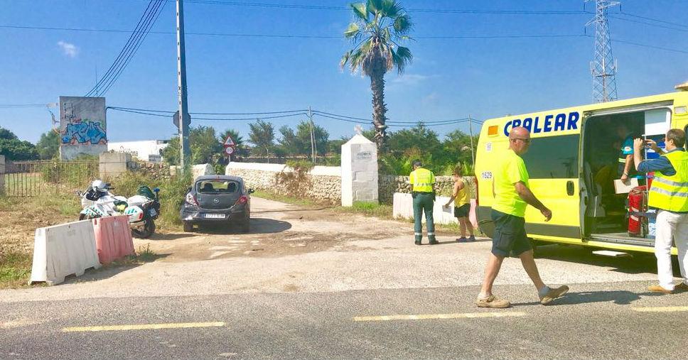 Imagen de uno de los vehículos accidentados (Fotos: Juan Mateo)