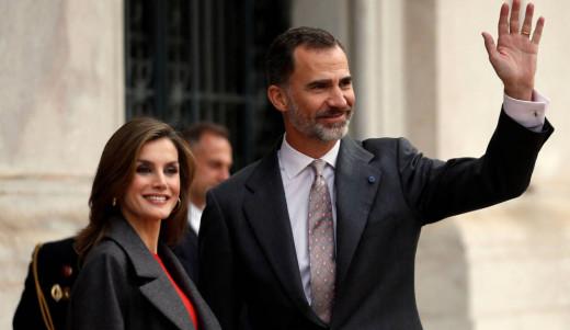 Fotografía de los reyes de España.