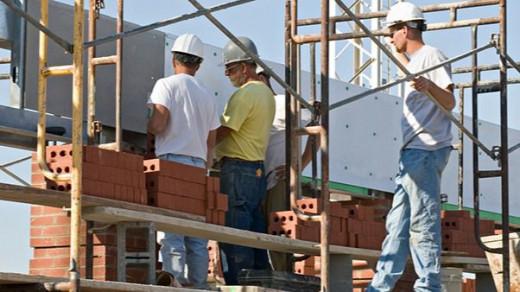 Trabajadores de la construcción.