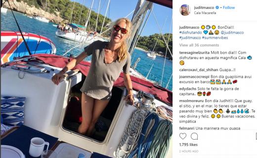 Fotografía que Judit Mascó ha colgado en Instagram.