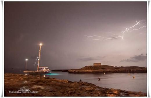 Imagen de la tormenta de ayer (Foto: Bep Gomila)