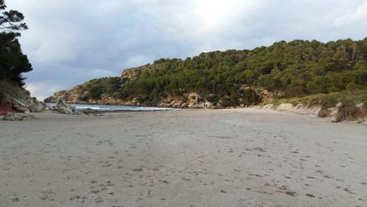 Playa de Es Bot, en Ciutadella.