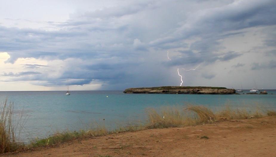 Tormenta en la costa sur (Foto: Tomeu Mir)