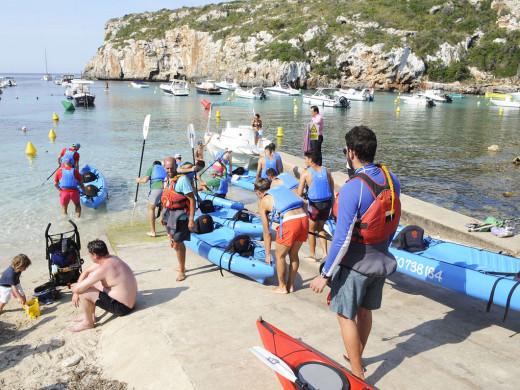(Fotos) El Mercadal se entrena…en el mar