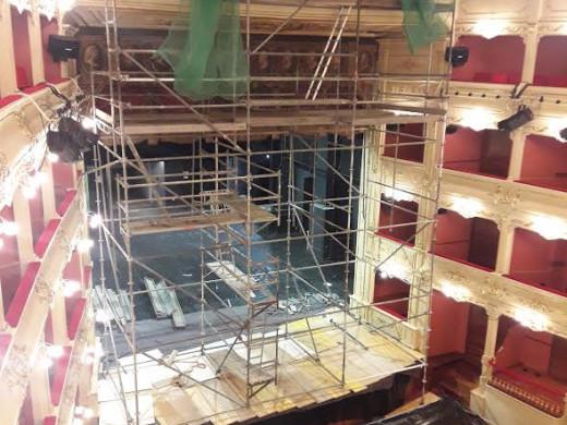 (Fotos) El Teatro Principal de Maó cierra por obras