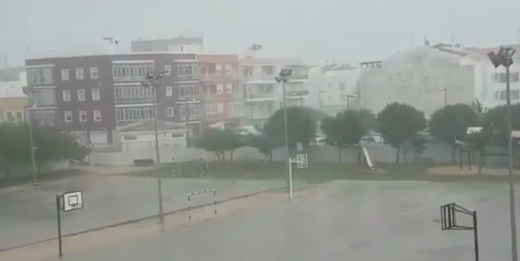 Captura de pantalla del vídeo de @Meteo_Menorca.