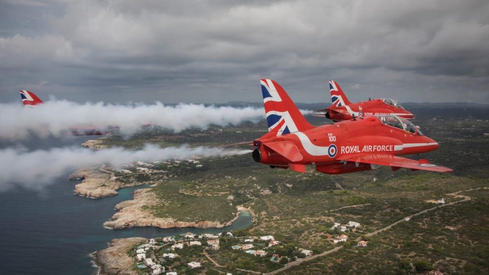 Llegada de los Red Arrows a Menorca (Fotos: Red Arrows)