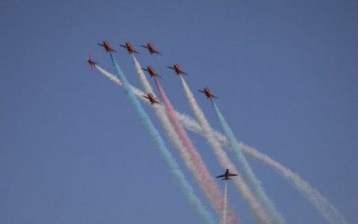 Acrobacias de los Red Arrows.