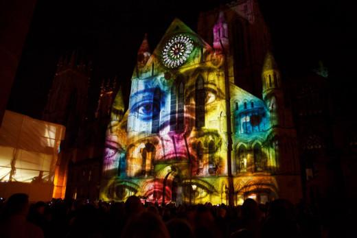Proyectarán imágenes sobre la pared de la Catedral