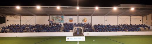 Foto de familia de todos los deportistas (Foto: CCE Sant Lluís)