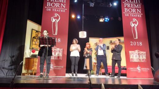 Ruth Gutiérrez, en la entrega del premio (Foto: Tolo Mercadal)