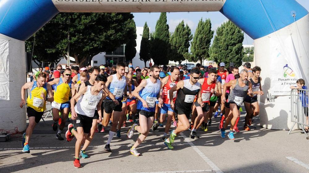 Imagen de la salida de la carrera (Fotos: Tolo Mercadal)