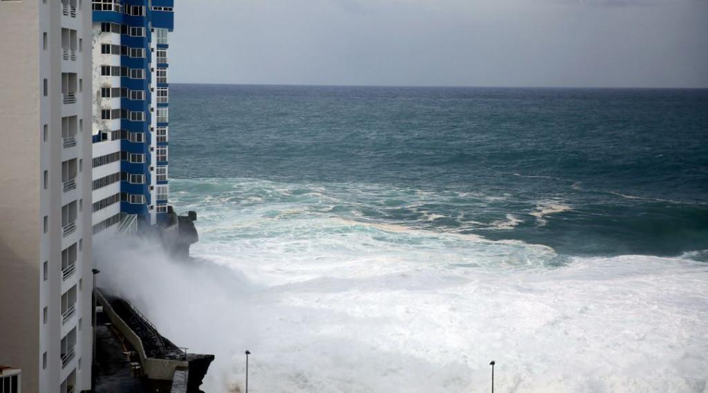 Oleaje en Tenerife.