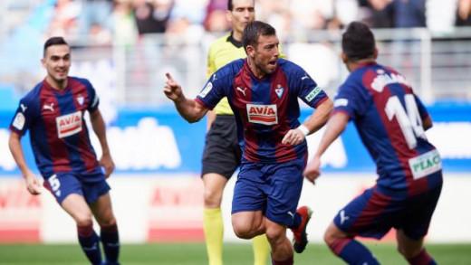 Enrich celebra el gol ante el Madrid (Fotos: laliga.es)