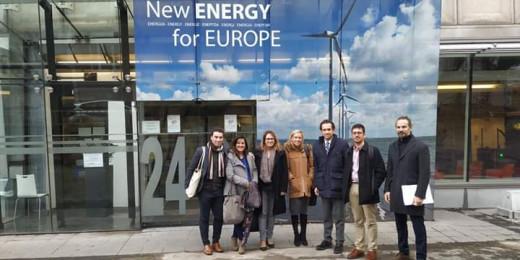 Una delegación menorquina ha visita do esta mañana la Comisión Europea (Foto: CIMe)