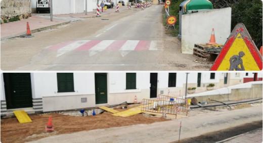 Vista de las obras que se están realizando en las calles de Es Migjorn Gran Foto GOB