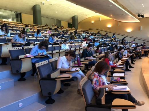 Imagen de los exámenes celebrados en Palma.