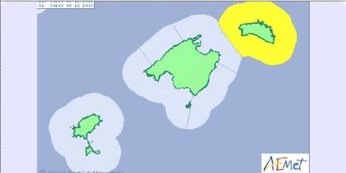 El sábado, 8 de diciembre, los fenómenos costeros activan la alerta en Menorca