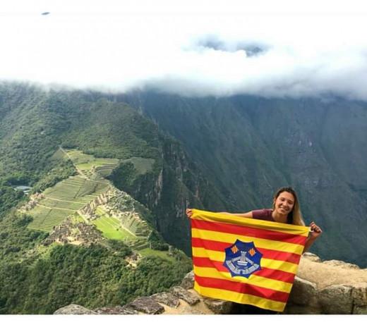 La menorquina Anna Goñalons en Machu Picchu, Perú. (Foto: A. Goñalons)