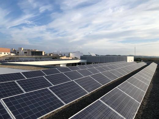Imagen de las placas solares.