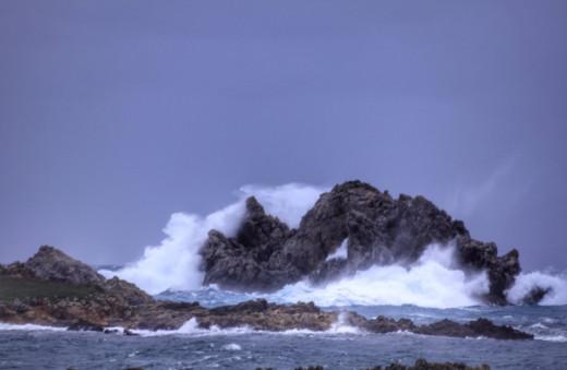 Imagen del temporal de @Meteo Menorca