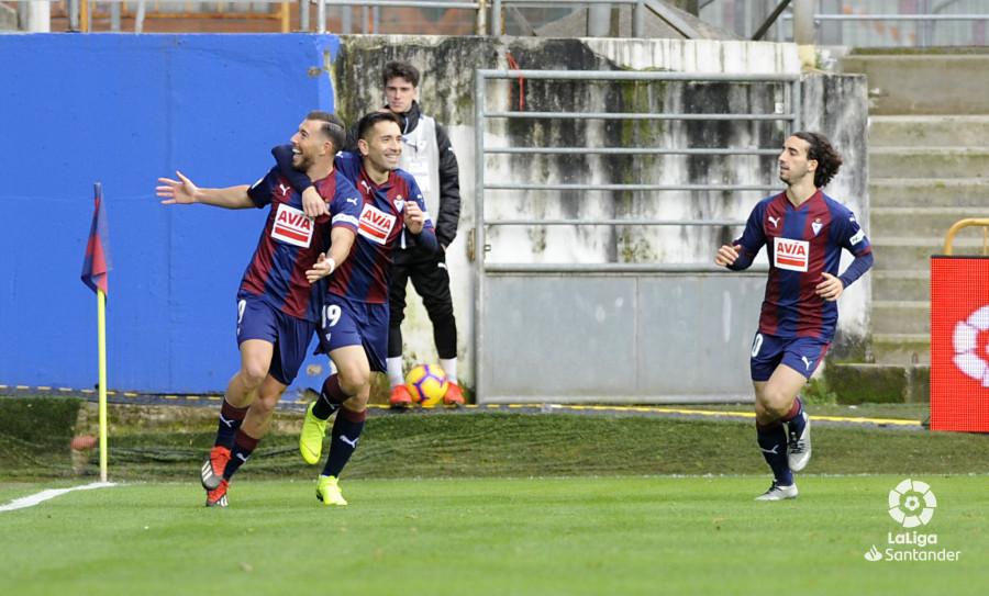 Enrich celebra el gol ante el Levante (Foto: laliga.es)