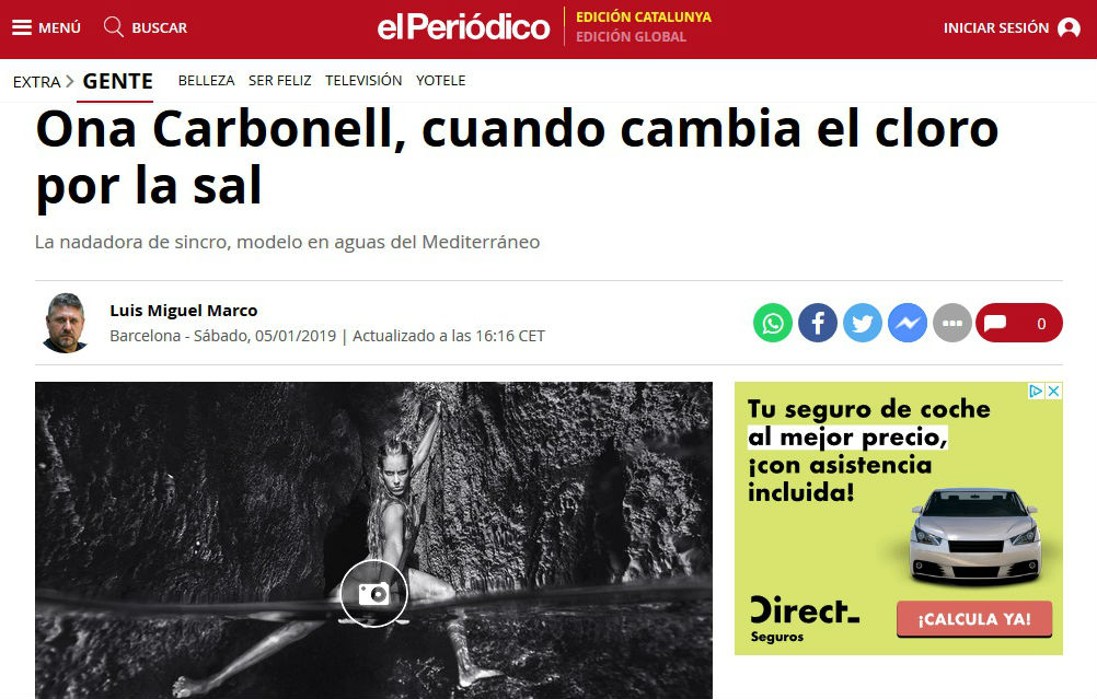Carbonell, en el reportaje.