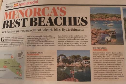 No solo las playas, productos como el gin, el queso y las abarcas también se mencionan en este reportaje