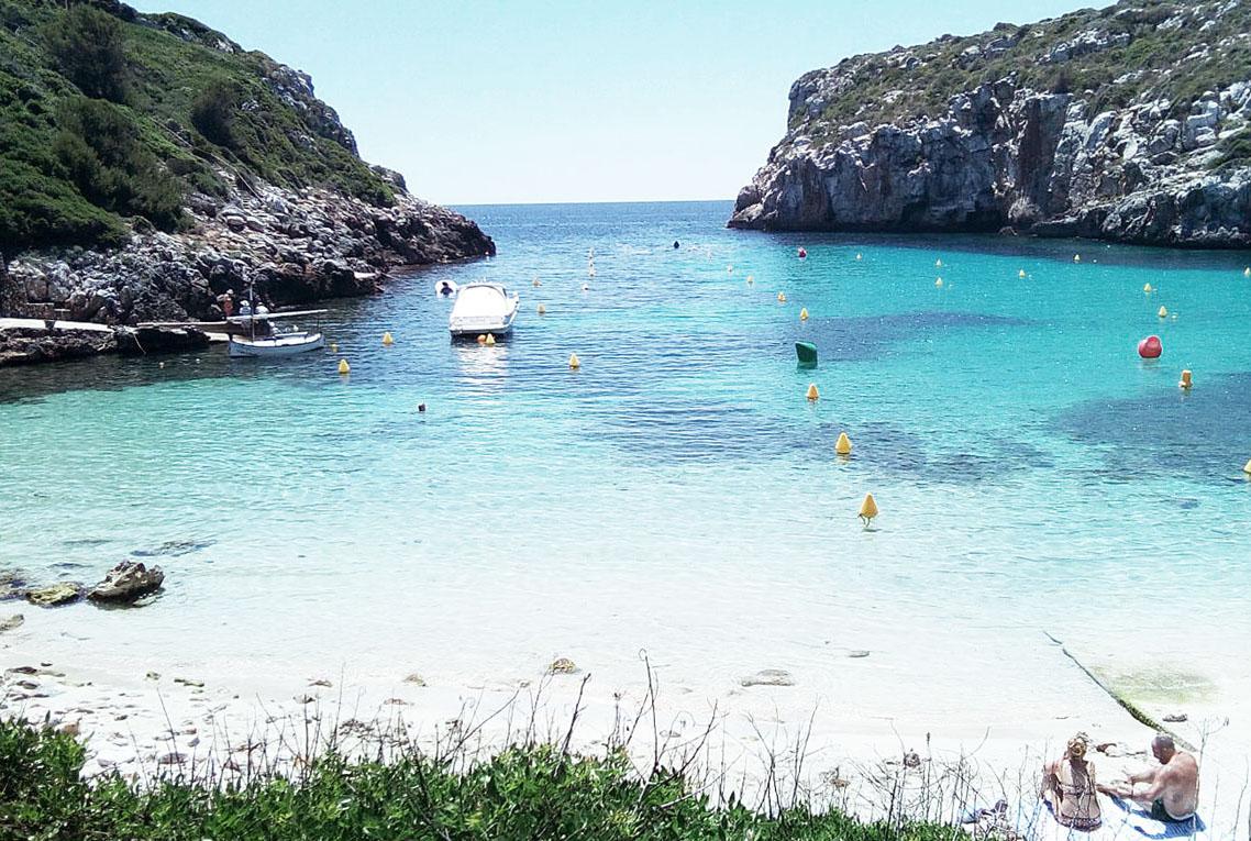 Playas de Menorca Binidalí y Es Canutells