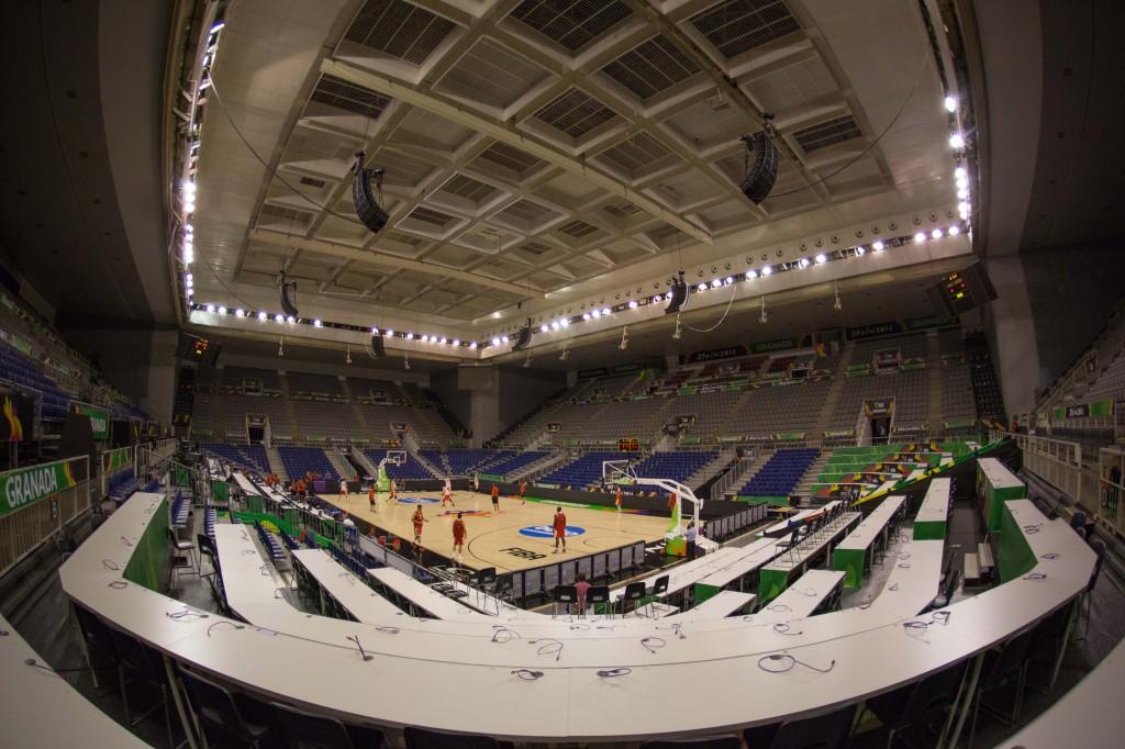 Entrenamiento de la selección española de baloncesto en el Pal
