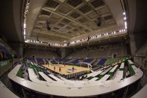 Panorámica del Palacio de los deportes de Granada, donde España jugará la primera fase.