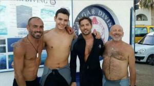 David Bisbal, en S'Algar Diving.