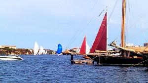Momento de la regata de hoy (Foto: Bet Rovira)